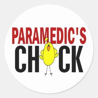 PARAMEDIC'S CHICK CLASSIC ROUND STICKER