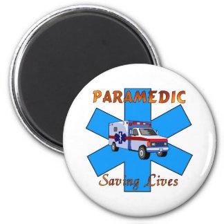 Paramedic Saving Lives 2 Inch Round Magnet