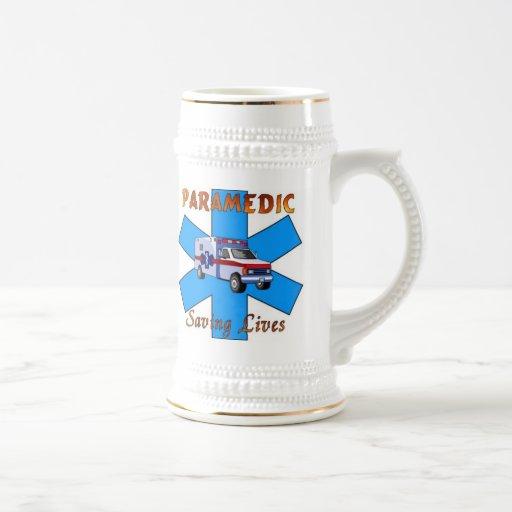 Paramedic Saving Lives Beer Stein