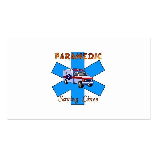 Paramedic Saving Lives Business Card