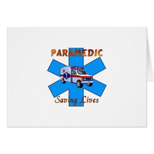 Paramedic Saving Lives Card