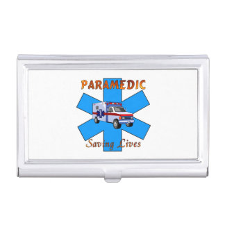 Paramedic Saving Lives Case For Business Cards