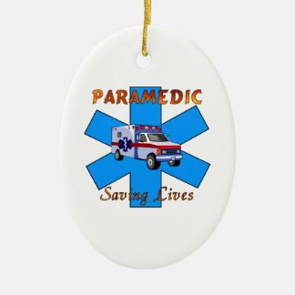 Paramedic Saving Lives Ceramic Ornament