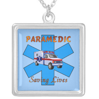 Paramedic Saving Lives Personalized Necklace