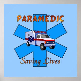 Paramedic Saving Lives Poster