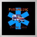 Paramedic Saving Lives Print