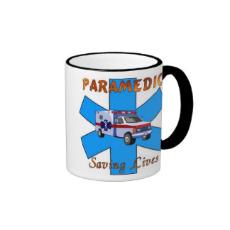 Paramedic Saving Lives Ringer Mug