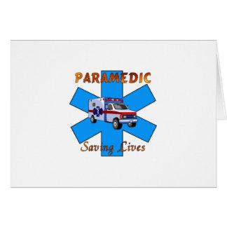 Paramedic Saving Lives Stationery Note Card