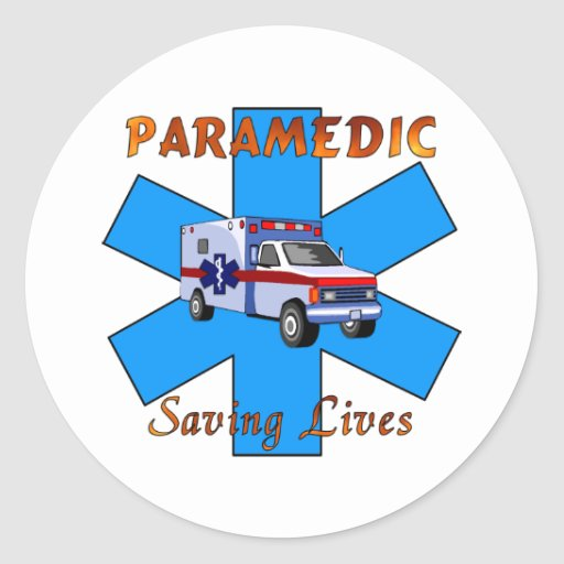 Paramedic Saving Lives Stickers