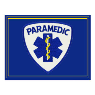 Paramedic Sheild Postcard