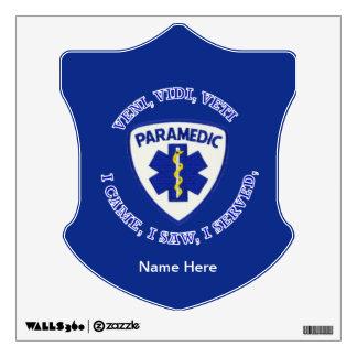 Paramedic Shield Wall Sticker