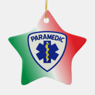 Paramedic Star of Life Ceramic Ornament