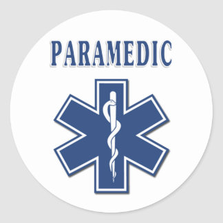 Paramedic Star of Life Classic Round Sticker