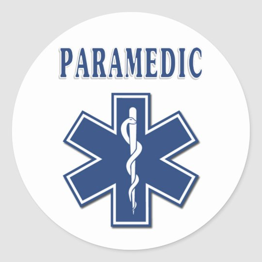 Paramedic Star of Life Classic Round Sticker