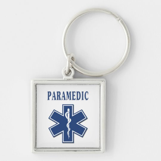 Paramedic Star of Life Keychain