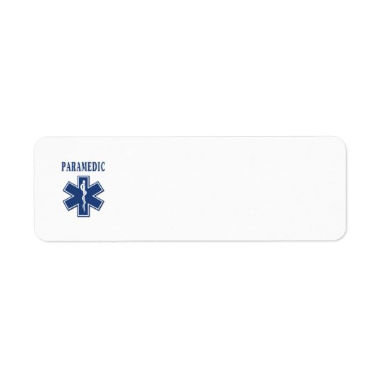 Paramedic Star of Life Label
