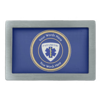 Paramedic Star of Life Rope Shield Universal Belt Buckle