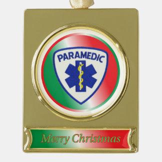 Paramedic Star of Life Shield Christmas Ornament
