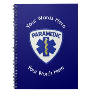 Paramedic Star Of Life Shield Notebook