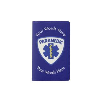 Paramedic Star Of Life Shield Pocket Moleskine Notebook