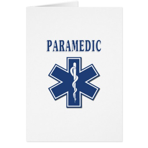 Paramedic Star of Life Stationery Note Card