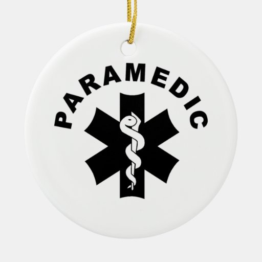 Medical Themed Christmas Ornaments : Paramedic theme christmas tree ornament zazzle