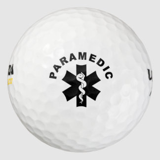 Paramedic Theme Pack Of Golf Balls