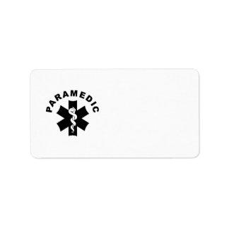 Paramedic Theme Address Label