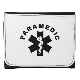 Paramedic Theme Leather Trifold Wallet