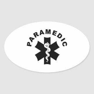 Paramedic Theme Oval Sticker