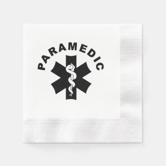 Paramedic Theme Coined Cocktail Napkin