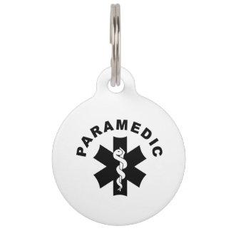 Paramedic Theme Pet Tag