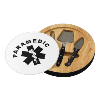Paramedic Theme Round Cheese Board