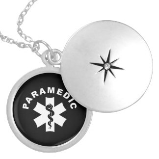 Paramedic Theme Silver Plated Necklace