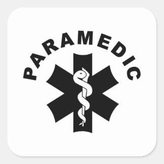 Paramedic Theme Square Sticker