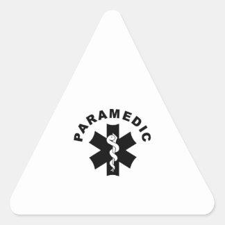 Paramedic Theme Triangle Sticker