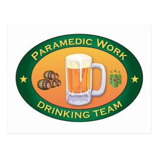 Paramedic Work Drinking Team Postcard