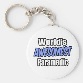 Paramédico de Awesomest del mundo Llaveros Personalizados