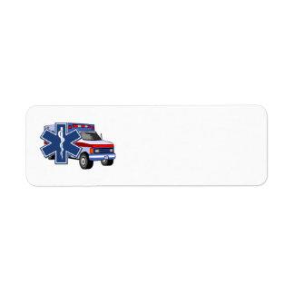 Paramédico de la ambulancia EMT del ccsme Etiqueta De Remite