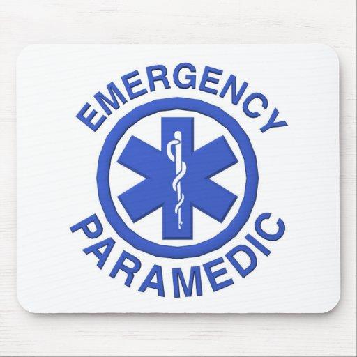 Paramédico de la emergencia médica tapetes de raton