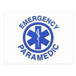 Paramédico de la emergencia médica tarjetas postales