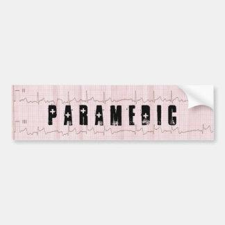 PARAMÉDICO DE QRS EKG EL CCSME ETIQUETA DE PARACHOQUE