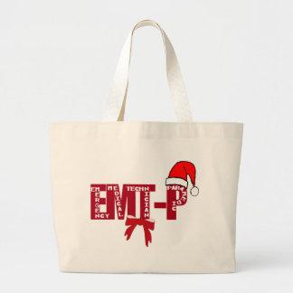 Paramédico de Santa EMT-P del navidad Bolsas