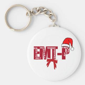 Paramédico de Santa EMT-P del navidad Llavero