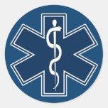 Paramédico EMT el ccsme Pegatina Redonda