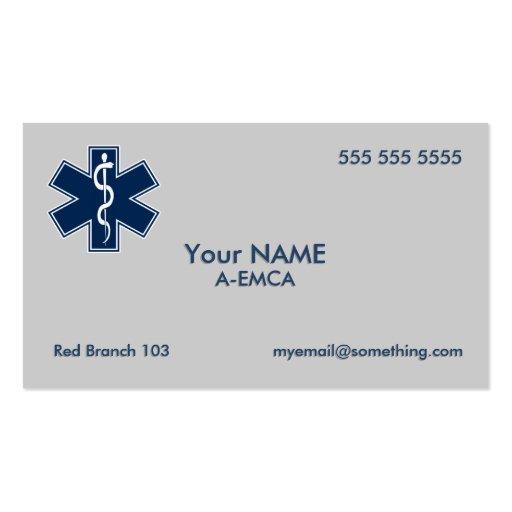 Paramédico EMT el ccsme Tarjetas De Visita