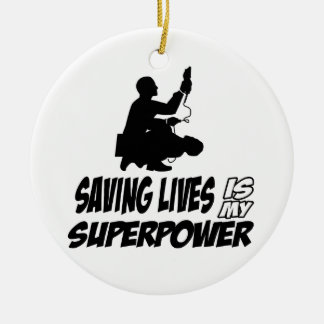 Paramedics designs ceramic ornament