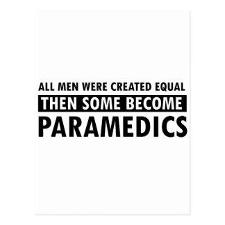 Paramedics designs postcard