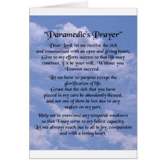 paramedics  prayer card