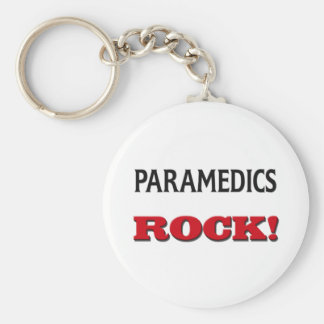 Paramedics Rock Basic Round Button Keychain
